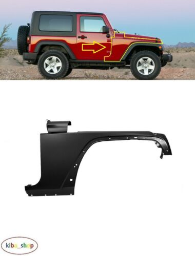 FOR JEEP WRANGLER JK 2006-2018 FRONT WING FENDER RIGHT O//S DRIVER