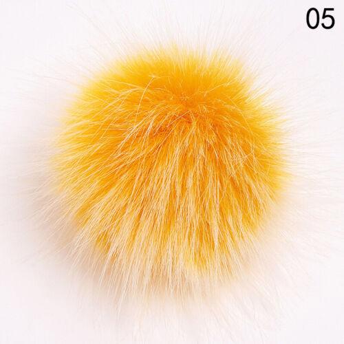 10cm Soft Fox Fur Ball Pom Pom For Hat Beanie Cap Shoes DIY Colourful