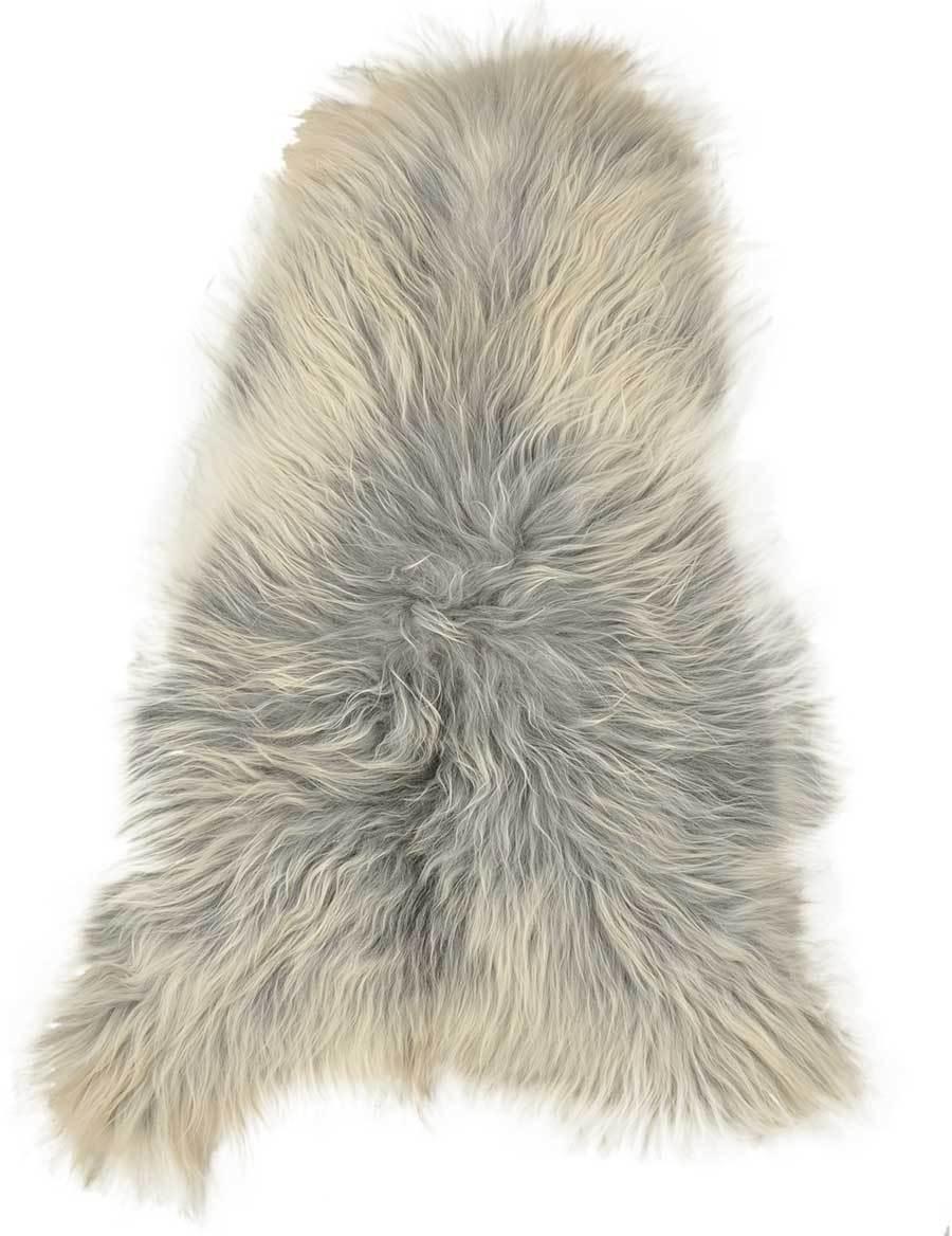 éco ISLANDE peau de mouton laine longue longue longue Mélange gris env. 110 x 70 cm   De Qualité Supérieure  22c644