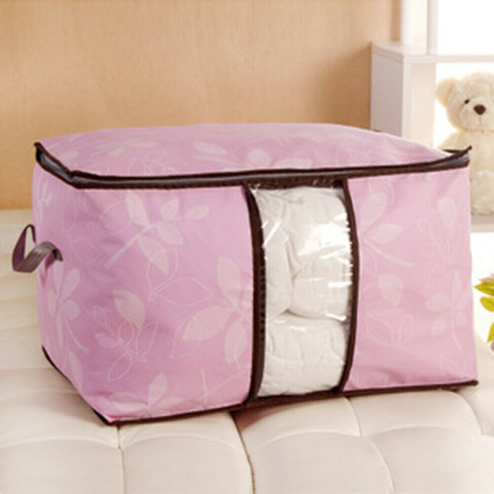Large Storage Bag Box Jumbo Clothes Quilt Bedding Duvet Laundry Pillow ZippedMFS