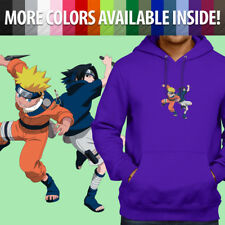 Sasuke Uchiha Curse Mark Hoodie Sharingan Naruto Anime Black Cosplay Jumper Mens