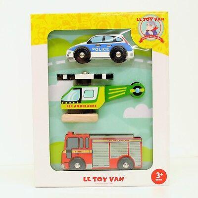 Le Toy Van Emergency Vehicle Set | eBay