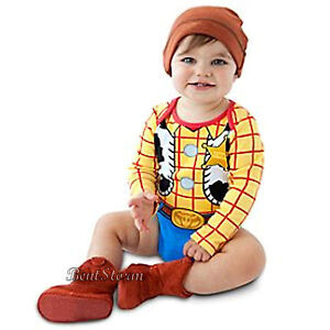 Toy Story Cowboy Woody Costume Bodysuit   Hat for Baby Disney Store ... 80970d3f5cd