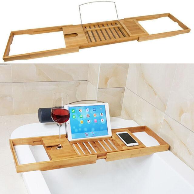 Luxury Bamboo Bath Bridge T6ub Caddy Tray Rack Bathroom Shelf Holder ...
