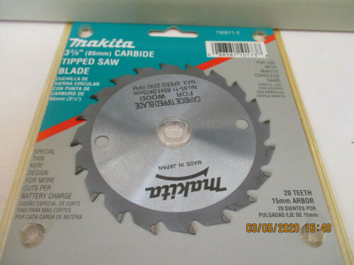 Makita 3-3//8 Carbide Tipped Saw Blade 20 Teeth Part No 792611-2