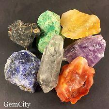 7 Chakra Stone Set Raw Rough Chakra Stones And Crystal For Healing Reiki