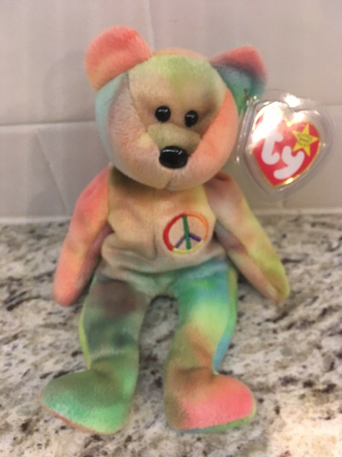 Ty beanie babies peace bear Mint With Tag Predector