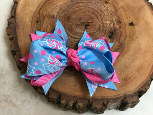 """NEWBORN BABY TODDLER GIRL BOUTIQUE HAIR 4.5/"""" HAIR BOW CHRISTMAS GIFT STOCKING"""