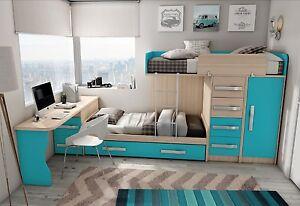 Kinderzimmer Mit Etagenbett : Komplett kinderzimmer hochbett etagenbett viel stauraum inkl