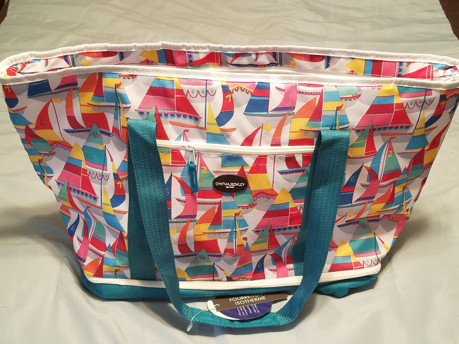 Cynthia Rowley New York Sailboat Design 25  Two Section Insulated Tote (NEW)