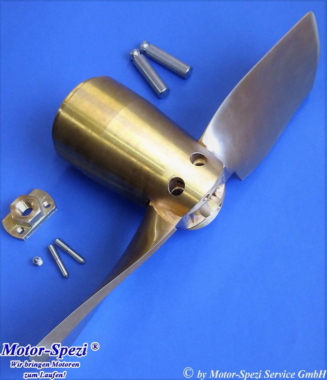 Faltpropeller aus Bronze, 16 x 11 für Saildrive Yanmar, Zweiblatt Propeller