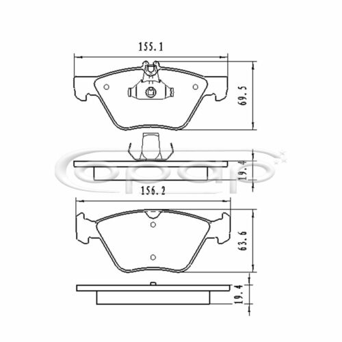 Bremsbelagsatz Scheibenbremse Vorderachse Chrysler Mercedes BB08080