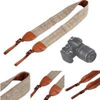Vintage Camera Shoulder Neck Belt Strap For SLR DSLR Canon Nikon Sony Panasonic