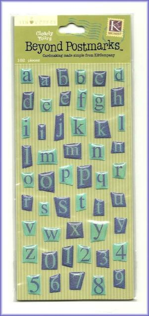 Scrapbooking Letters Beyond Postmarks Clearly Yours Blue Alphabet