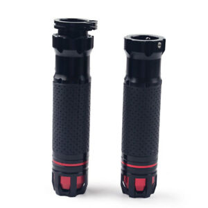 Pair-7-8-039-039-Rotatable-Handlebar-Hand-Grips-for-Universal-Motorcycle-Throttle-CNC
