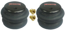 "two new standard 2600 air bags 3/8""npt port ride springs bag suspension fbss"