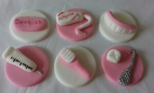 Image Is Loading 6 Dentist Edible Sugar Birthday Cake Cupcake Topper