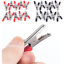 10pcs-Red-Black-55mm-Plastic-Alligator-Clips-Test-Probe-Lead-Crocodile-Clamp-HS miniatura 2