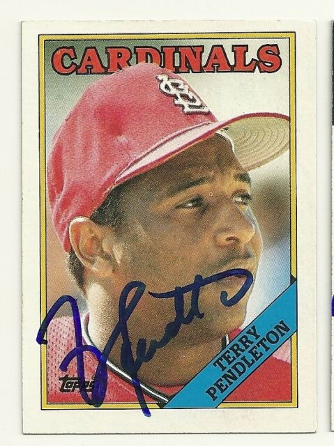 TERRY PENDLETON 1988 TOPPS SIGNED # 635 CARDINALS