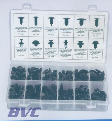 AUTOMOTIVE PUSH PIN ASSORTMENT - Retainer pins for GM Ford Toyota Honda Clips