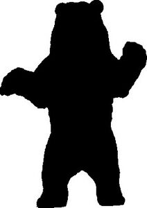 GRIZZLY BEAR STANDING SILHOUETTE CAR DECAL STICKER | eBay