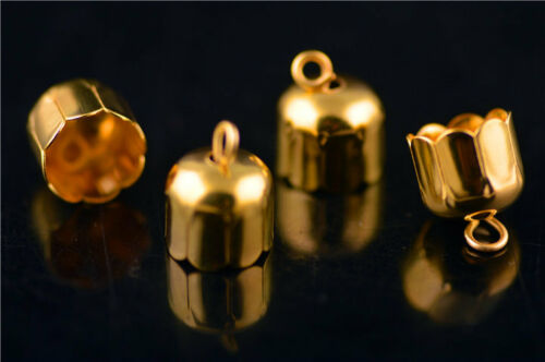 100Pcs Charms Bead End Caps Stopper Fit 9mm Cord Leather Crafts Necklace