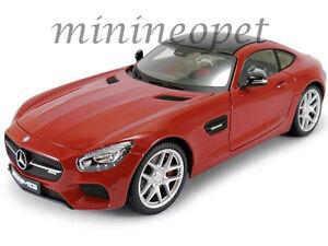 Maisto-38131-Edicion-Exclusiva-Mercedes-Benz-Amg-Gt-1-18-Diecast-Model-Car-Rojo