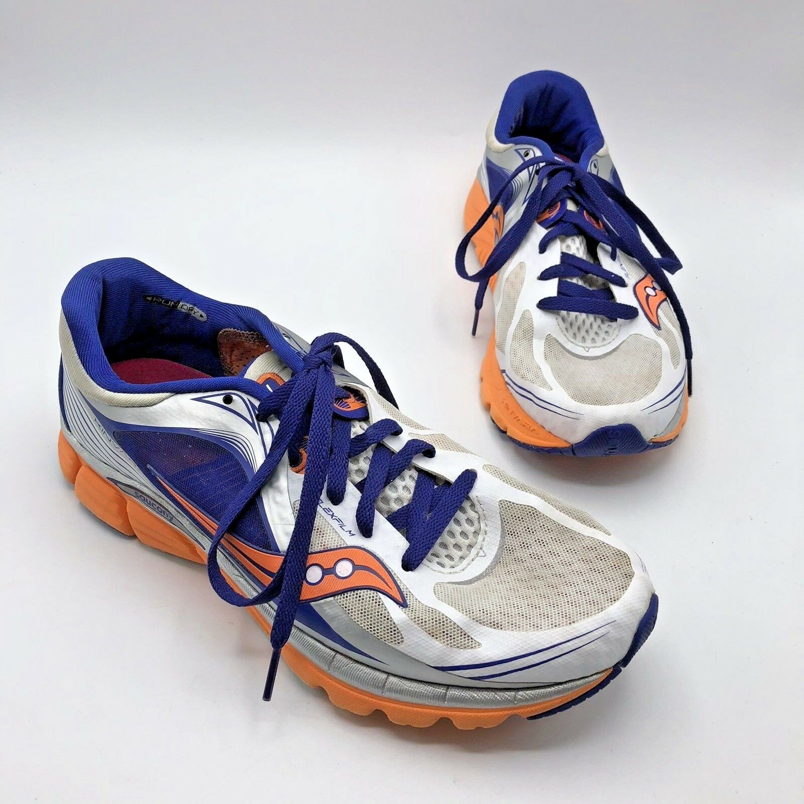 Saucony Kinvara 5 Women White bluee orange Running shoes Size 10 Pre Owned