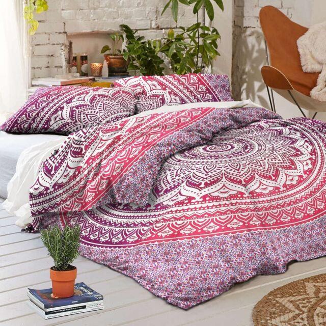 Indian Cotton Mandala Single Bed Set Quilt Cover Duvet Doona Cover Pillow Cover