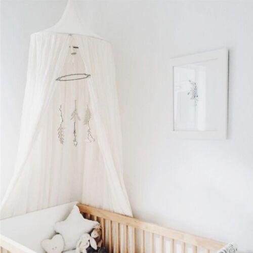 Baumwolle Kinder Betthimmel Baldachin Moskitonetz Rundum Nestchen SchlafzimmerDE