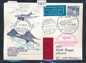 Copieux 97567) Rda Coursier So-carte If Sf Dresde-leipzig 11.5.89 Ef 80pf Lp > Ch-afficher Le Titre D'origine