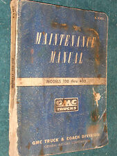 1953 GMC 100-400 TRUCK SHOP MANUAL / ORIGINAL BOOK / PICKUP / PANEL, / CARRY ALL