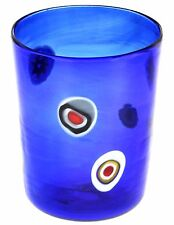 Bicchiere Goto Veneziano Murrine Millefiori Blue Murano Glasses Made in Italy
