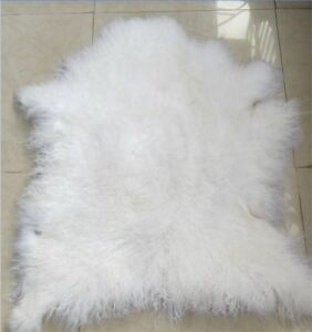 Real Mongolian Sheepskin Rug Area Rugs
