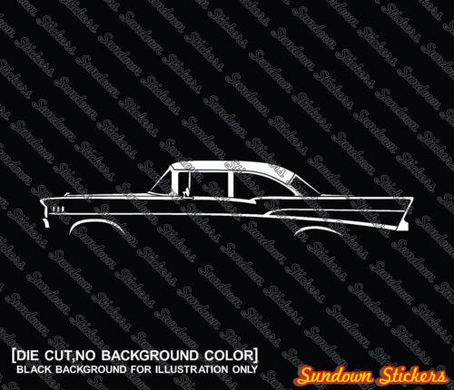 for 1957 Chevrolet Bel-Air 2-Door sedan 2X Car silhouette stickers post chevy