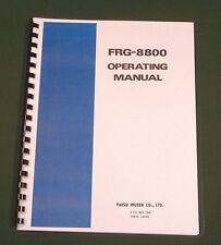 Yaesu FRG-8800 Instruction Manual - Premium Card Stock Covers & 28lb Paper!