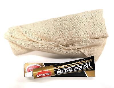 Beminnelijk Autosol Metal Chrome Aluminium Brass Copper Steel Polish + Polishing Cloth