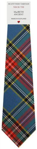 Mens Clan Tie Made in Scotland MacBeth Ancient Tartan