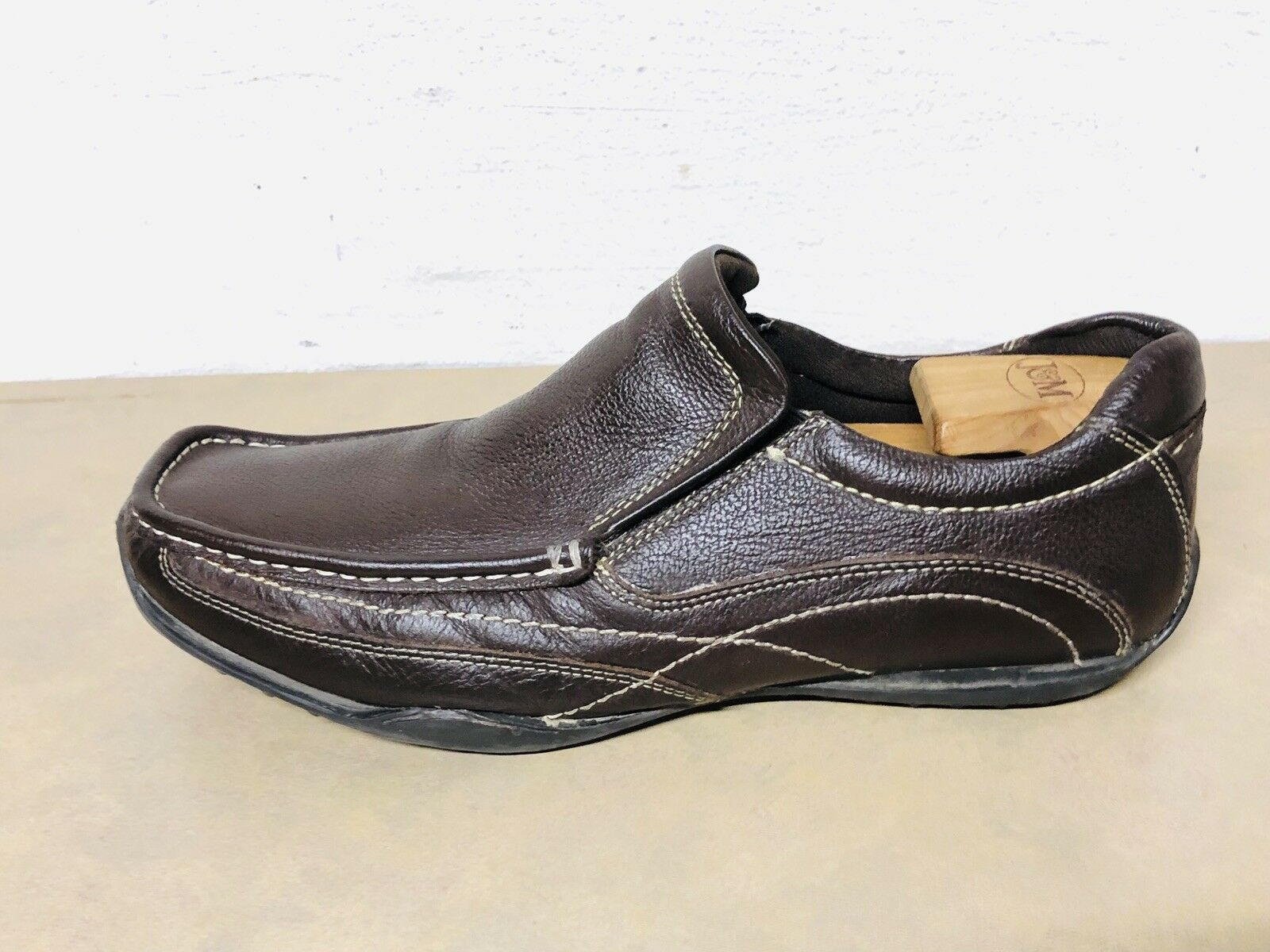 Red Tape Mens shoes Leather Tan BROWN Size 8 Casual Oxford Loafer