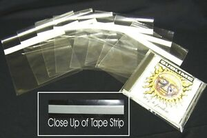 25-CDSP02SS-CD-Plastic-Sealable-Polyclear-Outer-Sleeves-Bags-Covers-Storage