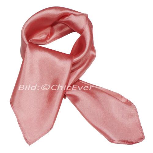Seidentuch,Nickituch,100/%Seide,52x52cm,Tuch,Schal,uni,rot,pink,schwarz,blau,grün