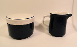Mikasa-Blue-amp-White-Porcelain-Cream-and-Sugar-Light-039-n-Lively-Pattern