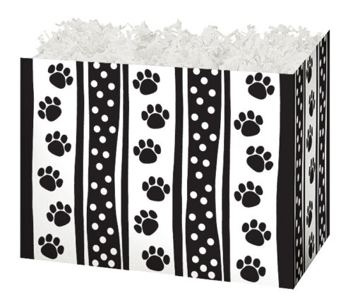 PAWS /& DOTS GIFT BOX decorative base gift baskets lg