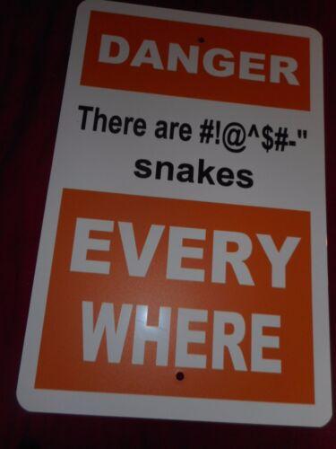 Danger serpents chaque où SIGNE cabine Copperhead Hochet Camper BAR RV Hunter Hunt