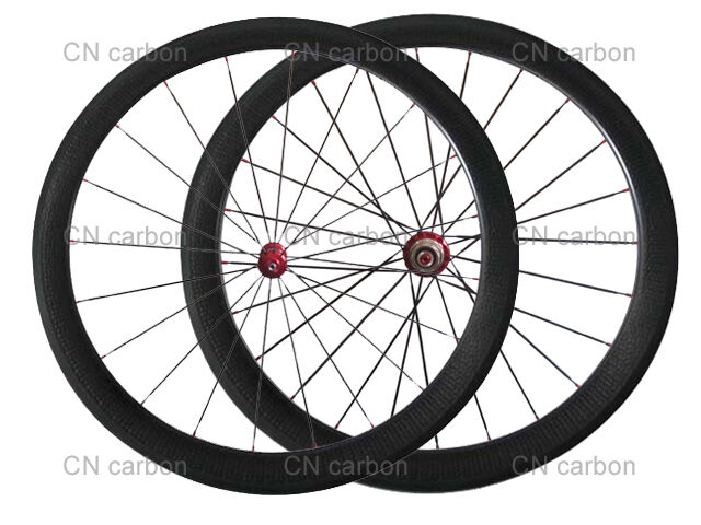 Dimple finish 25mm width 50mm Clincher carbon bike road wheels bicycle wheelset