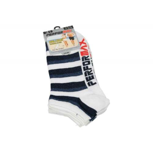 Performax Ladies Soft Cotton Holiday Trainer Ankle Socks 3 or 12 pair Pack Liner
