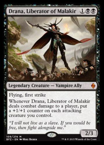 Battle for Zendikar Near Mint 1x x1 English -BF Drana Liberator of Malakir
