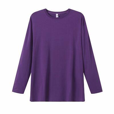 Bamboo Cotton Premium Blend Toddler French Blue Long Sleeve Tee ShirtUPF 50