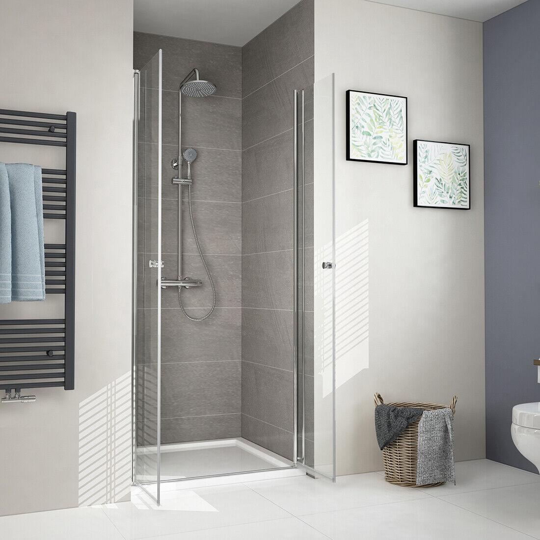 Details zu Duschtür Dusche Pendeltür 100 90 80 70 cm Nische Schwingtür  Duschkabine Echtglas