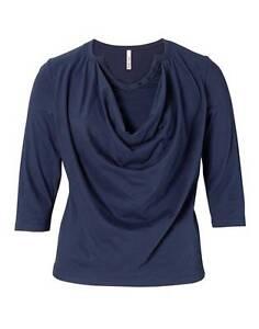 NEU Übergröße schickes Damen Shirt mit Feinstrick Einsätze 3//4 Arm Gr.48,50,52